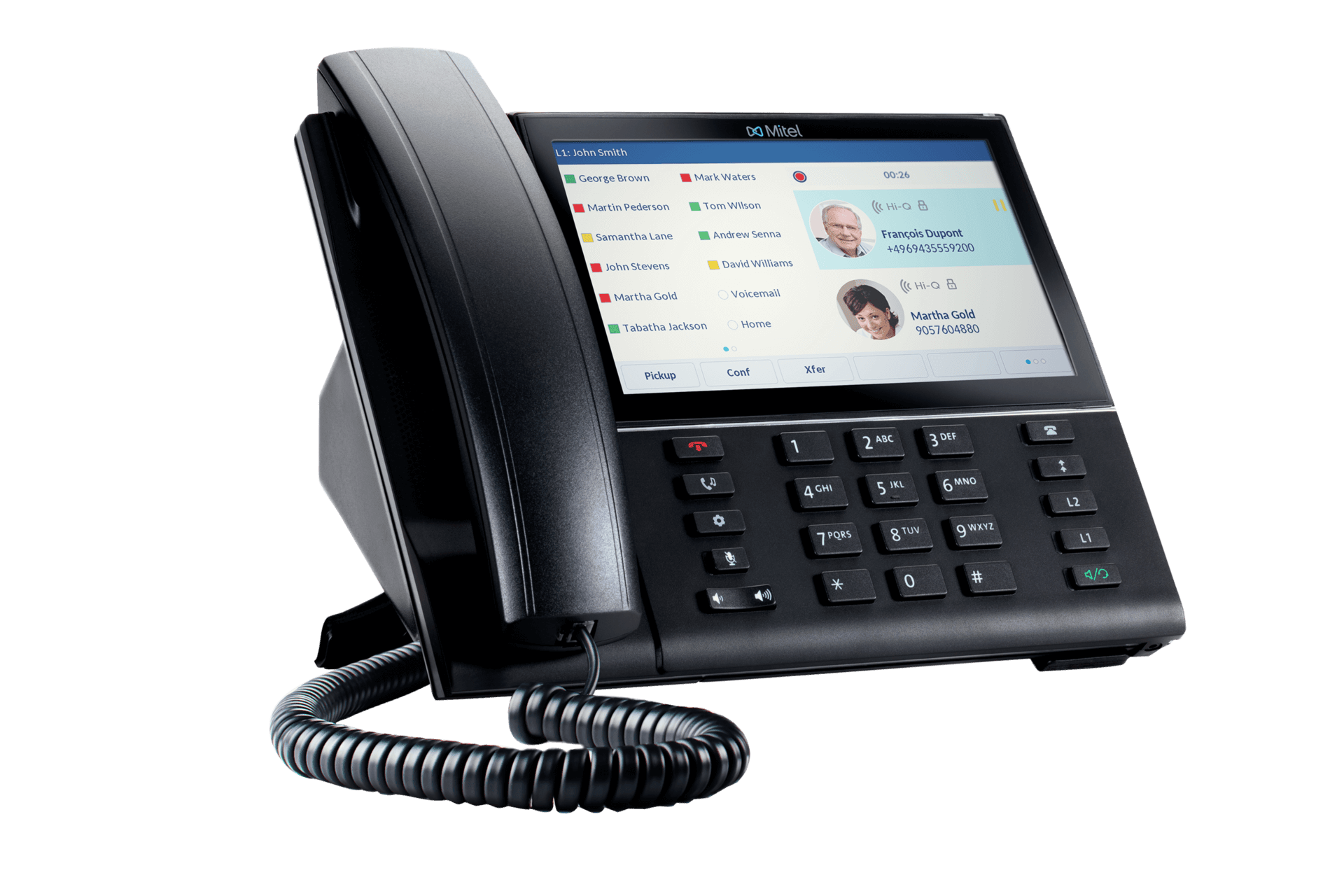 Mitel 6873 SIP Phone Side Angle View